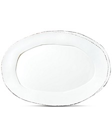 Lastra Collection White Small Oval Platter