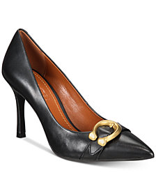COACH Waverly Signature Buckle Pumps