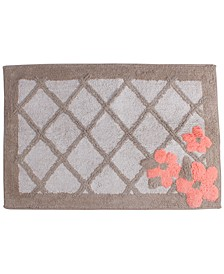 "Coral Garden Cotton Tufted 20"" x 30"" Bath Rug"