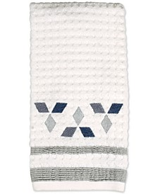 Cubes Cotton Textured Embroidered-Diamond Hand Towel