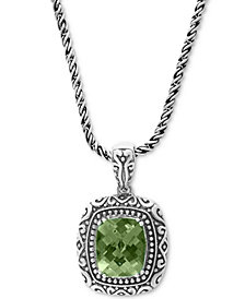 "EFFY® Prasiolite Ornate 18"" Pendant Necklace (5-3/8 ct. t.w.) in Sterling Silver"