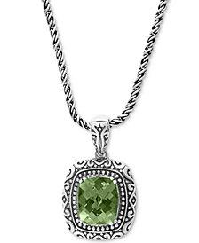 "EFFY® Prasiolite Ornate 18"" Pendant Necklace (5-3/8 ct. t.w.) in Sterling Silver"