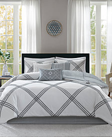 Madison Park Albany 7-Pc. Queen Cotton Comforter Set
