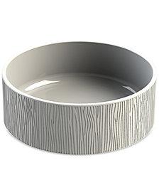 TarHong Wood Grain Stoneware Medium Pet Bowl