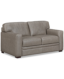 "Avenell 62"" Leather Loveseat, Created for Macy's"