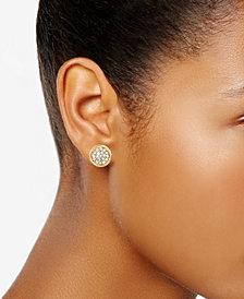 Charter Club Gold-Tone Pavé Disc Stud Earrings, Created for Macy's
