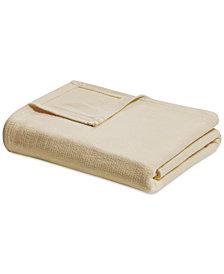Madison Park Freshspun Cotton Basketweave King Blanket