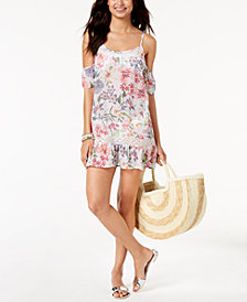 Miken Juniors' Strappy Cold-Shoulder Cover-Up