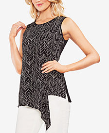 Vince Camuto Asymmetrical Contrast Top