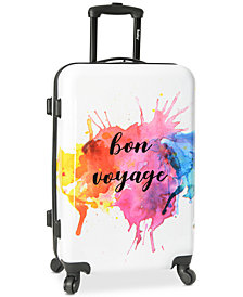 "Wembley Live It Up Bon Voyage 24"" Hardside Spinner Suitcase"