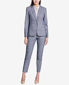 Tommy Hilfiger Two-Button Tweed Jacket & Ankle Pants