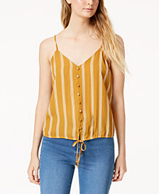 Hippie Rose Juniors' Striped Adjustable Top