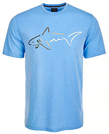 Greg Norman for Tasso Elba Men's Shark Logo T-Shirt, Created for Macy's