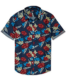 Superdry Men's Miami Loom Palm-Print Shirt