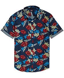 Superdry Men's Miami Loom Palm-Print Shirt