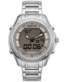 Kenneth Cole Reaction Men's Analog-Digital Reaction Stainless Steel Bracelet Watch 46mm