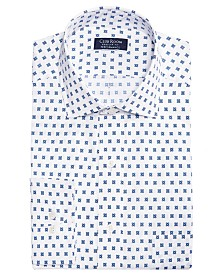 Club Room Men's Classic/Regular Fit Performance Stretch Foulard Print Dress Shirt, Created for Macy's