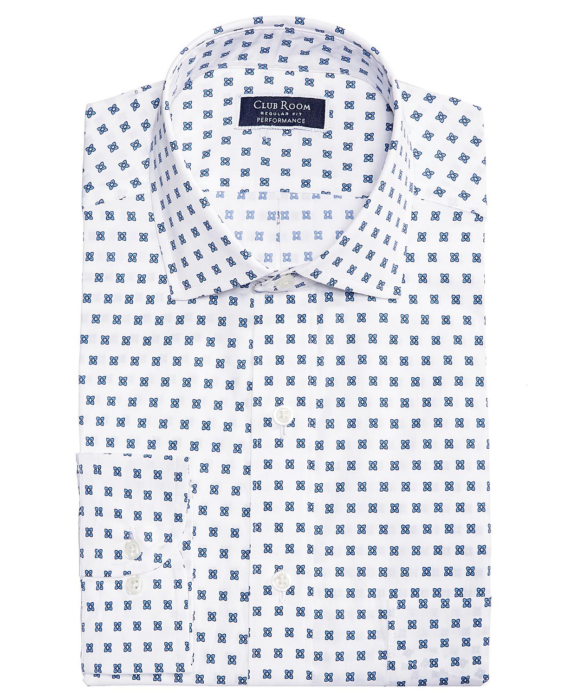 Club Room Slim Fit Performance Stretch Foulard Print Men's Dress Shirt