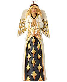 Jim Shore Black and Gold Praying Angel Figurine