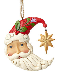 Jim Shore Crescent Moon Santa Ornament