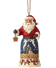 Jim Shore Joy to the World Santa Ornament