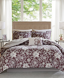 Madison Park Essentials Lily Reversible 7-Pc. Twin Comforter Set