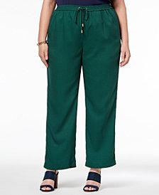 MICHAEL Michael Kors Plus Size Jacquard Drawstring Pants