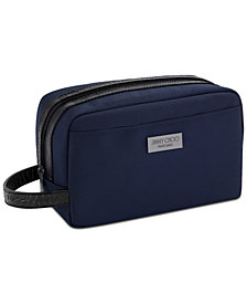 Receive a Complimentary Toiletry Pouch with any large spray purchase from the Jimmy Choo Man Blue fragrance collection