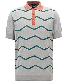 BOSS Men's Slim-Fit Short-Sleeve Cotton Polo Sweater