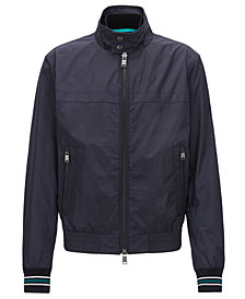 BOSS Men's Water-Repellent Technical Fabric Jacket