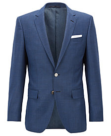 BOSS Men's Slim-Fit Houndstooth Virgin Wool Jacket