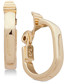 Anne Klein E-Z Comfort Clip-On Hoop Earrings