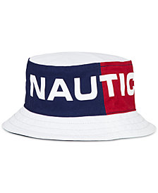 Nautica Men's Reversible Logo-Print Bucket Hat