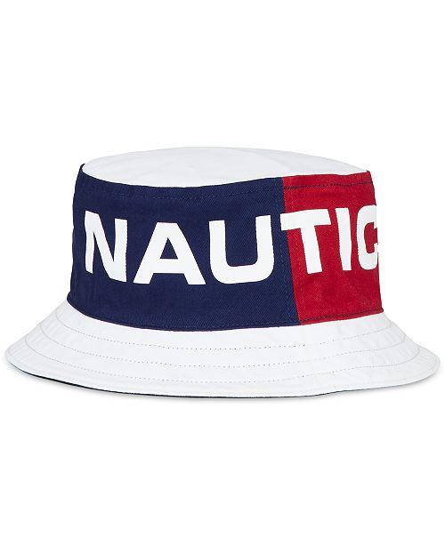 7626f746779 Nautica Men s Reversible Logo-Print Bucket Hat  Nautica Men s Reversible  Logo-Print Bucket ...