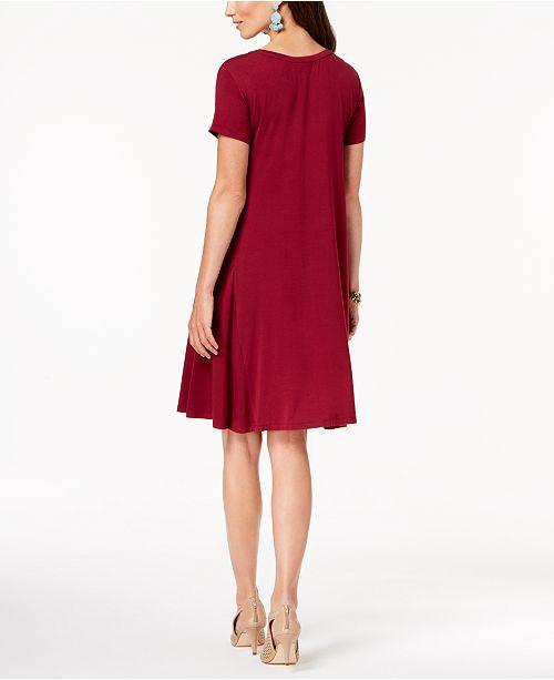 Style Co Petite Short Sleeve A Line Dress Created For Macys