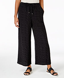 Eileen Fisher The Future Is Female Tencel® Printed Wide-Leg Pants, Regular & Petite