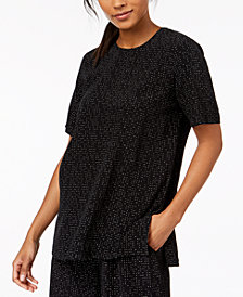 Eileen Fisher The Future Is Female Tencel® Printed Top, Regular & Petite