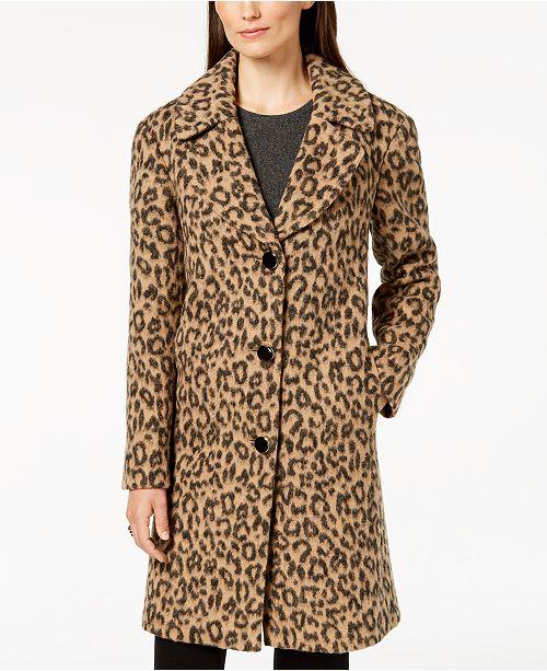 kate spade new york Leopard-Print Coat