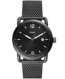 Fossil Men's Commuter Smoke-Tone Stainless Steel Bracelet Watch 42mm