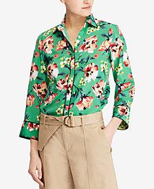 Lauren Ralph Lauren Floral-Print Crepe Shirt