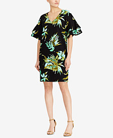 Lauren Ralph Lauren Flutter-Sleeve Shift Dress