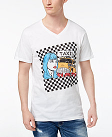 I.N.C. Men's Taxi V-neck Graphic T-Shirt, Created for Macy's