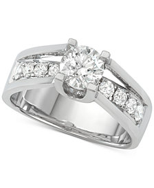 Diamond Engagement Ring (1-5/8 ct. t.w.) in 14k White Gold