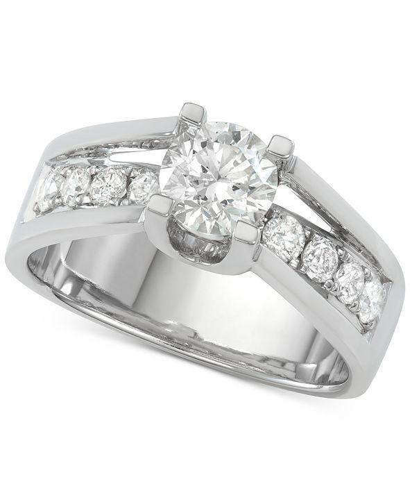 Macy's Diamond Engagement Ring (1-5/8 ct. t.w.) in 14k White Gold
