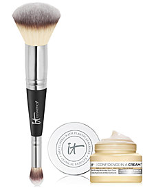 Limited Edition It Cosmetics Heavenly Luxe #7 Brush + Deluxe Confidence in a Cream Set- Only $48.00 with any beauty purchase! A $57 Value!