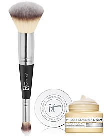 Limited Edition It Cosmetics Heavenly Luxe #7 Brush + Trial-Size Superhero Mascara - Only $48.00 with any Foundation Purchase! A $56 Value!