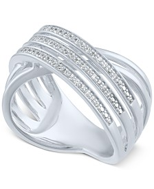 Diamond Crisscross Statement Ring (1/4 ct. t.w.)