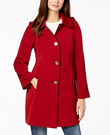 Hooded Snap-Front Raincoat