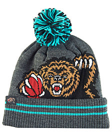Mitchell & Ness Vancouver Grizzlies Black Heather Hi-5 Pom Knit