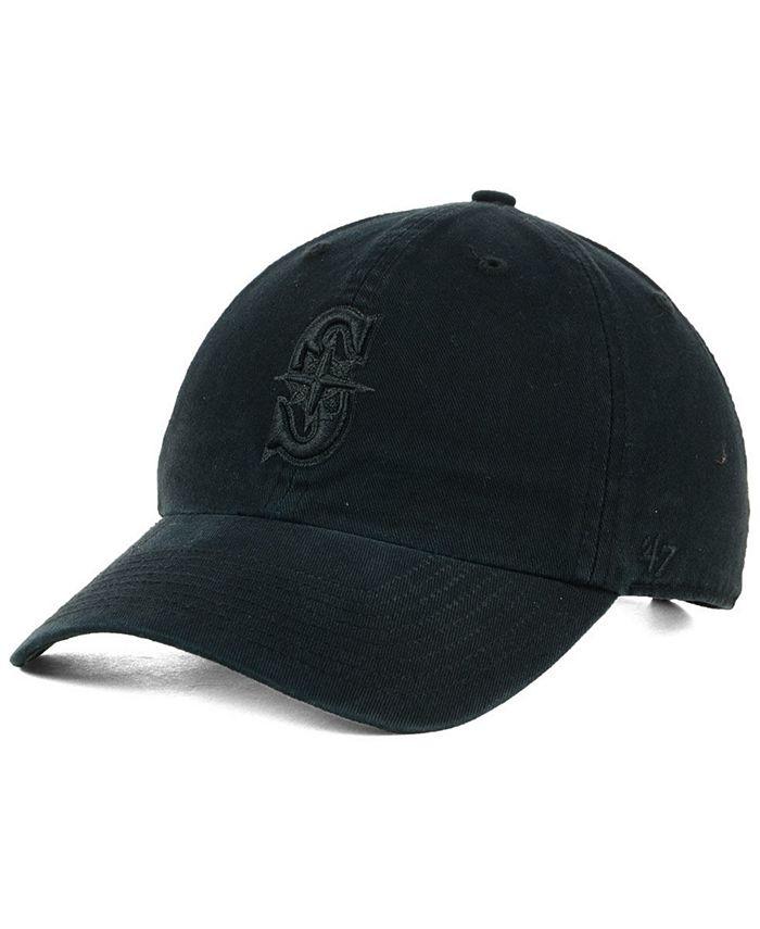 '47 Brand - Black on Black CLEAN UP Strapback Cap